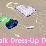 Servono soltanto gessetti e dei vecchi vestiti. Si tracciano per terra le sagome di bimbi e si «vestono». L'effetto «scena del crimine» verrà scongiurato disegnando grandi sorrisi sui «modelli»