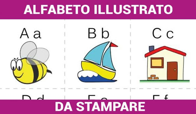 Alfabeto Illustrato da Stampare