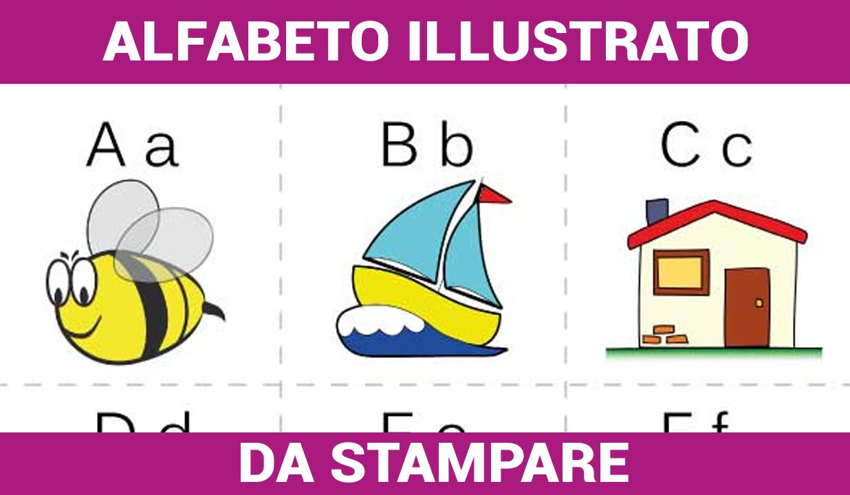 Alfabeto Illustrato da Stampare