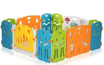Recinto per Bambini con Cancello di Sicurezza Estensibile