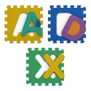 tappetino con lettere per bambini